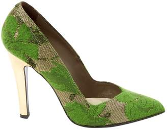 Mauro Grifoni Green Cloth Heels