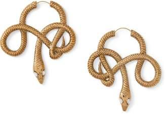 Ralph Lauren Snake Hoop Earrings