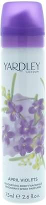 Yardley London YardleyLondon April Violets for Women Deodorant Body Spray, 2.6 Ounce