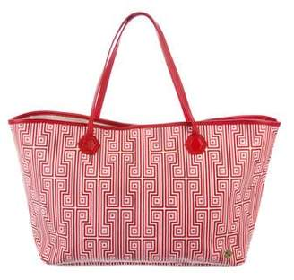 Jonathan Adler Leather-Trimmed Shopper Tote