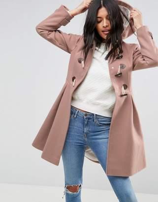 Asos Design Skirted Duffle Coat
