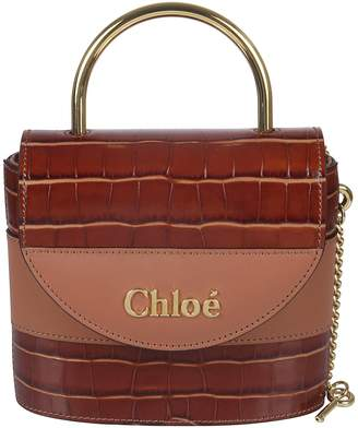 Chloé Small Logo Plaque Skinned Tote