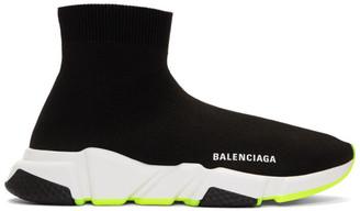 Balenciaga Black and Yellow Speed Sneakers