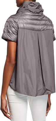 Herno Ladybug Short-Sleeve Puffer Jacket w/ Cape
