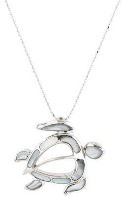 Mother of Pearl Na Hoku 14K Honu Pendant Necklace