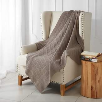 ONLINE Better Homes and Gardens Taupe Chunky Knit Throw Blanket
