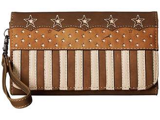 M&F Western Lady Liberty Clutch Wallet