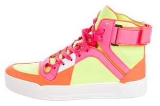 Gucci Neon High-Top Sneakers w/ Tags