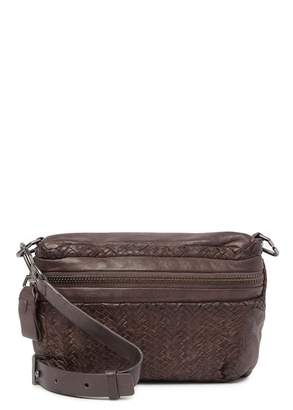 Liebeskind Berlin Colorado Distressed Woven Leather Mini Crossbody Bag