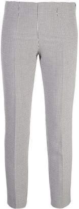 Piazza Sempione micro-check slim trousers