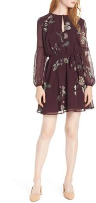 BB Dakota Winter Rose Chiffon Dress