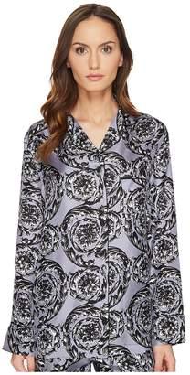 Versace Pigiama Camicia Pajama Button Up Shirt Women's Pajama