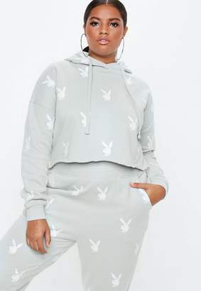 Missguided X Plus Size Grey Hoodie