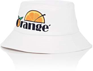 """D-ANTIDOTE Women's """"Orange""""-Embroidered Faux-Leather Bucket Hat"""