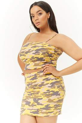 Forever 21 Plus Size Camo Bodycon Mini Skirt