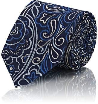 Penrose London Men's Paisley Silk Jacquard Necktie