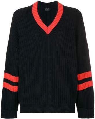 Paul Smith v neck ribbed sweater