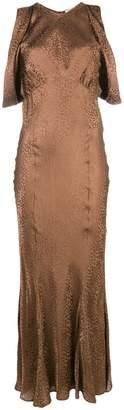 ATTICO pattern flared maxi dress