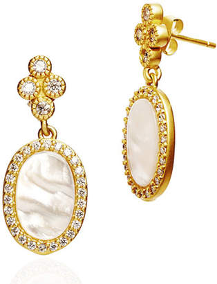 Freida Rothman Color Theory Pave Oval Drop Earrings