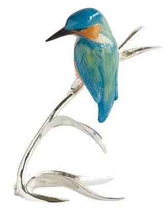 Fashion World Silver Plated Kingfisher Ornament