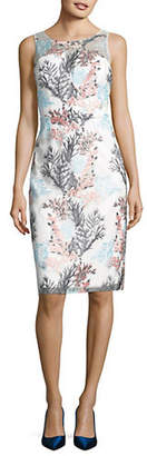 Nicole Miller NEW YORK Embroidered Mesh Dress