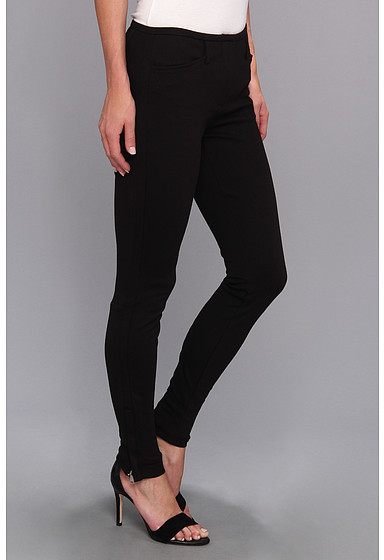 DKNY DKNYC Ponte Fly-Front Seamed Legging w/ Ankle Zippers