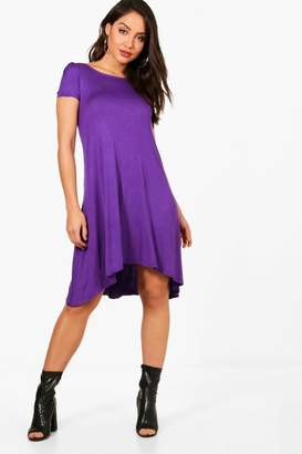 boohoo Short Sleeve Jersey Swing Dress