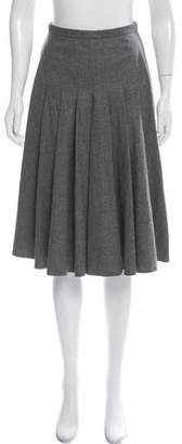 Akris Wool Pleated Skirt