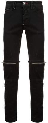 Philipp Plein zipped skinny jeans