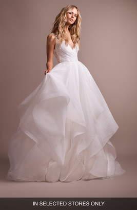 Paige Hayley Dylan V-Neck Low Back Wedding Dress