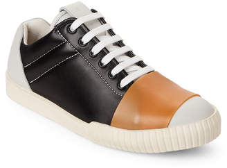 Marni Black & White Leather Low-Top Sneakers