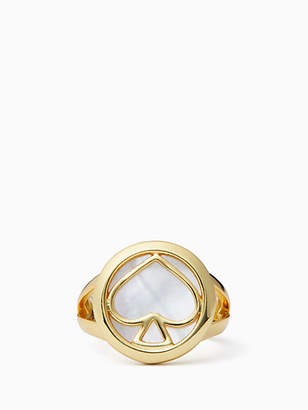 Kate Spade Signature Spade Ring, Cream - Size 5