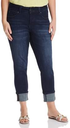 Jag Jeans Plus Maddie Cuffed Skinny Jeans in Dark Indigo