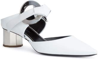 Proenza Schouler White leather grommet 40 mules