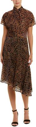 Reiss Zhen Burnout A-Line Dress