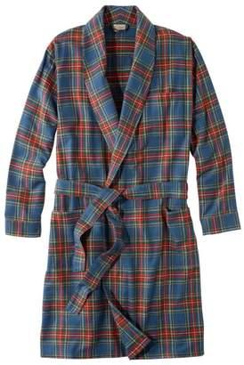 L.L. Bean L.L.Bean Men's Scotch Plaid Flannel Robe