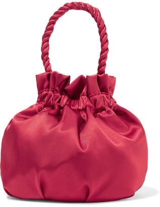 STAUD - Grace Satin Tote - Red