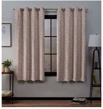 """Exclusive Home Kilberry Woven Blackout Grommet Top Window 52"""" X 63"""" Curtain Panel Pair"""