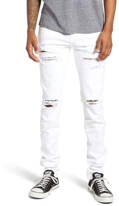 Denim & Supply Ralph Lauren Dr. Denim Supply Co Snap Skinny Fit Jeans (Light Stone Destroyed)