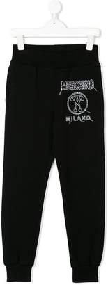 Moschino Kids TEEN stitch logo sweatpants