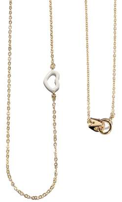 Jordan Askill White Enamel Heart Necklace