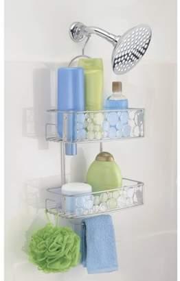InterDesign Bubbli Bathroom Shower Caddy, Clear/Silver