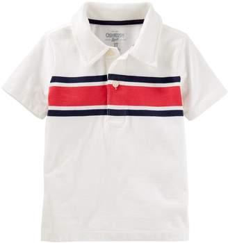 Osh Kosh Oshkosh Bgosh Boys 4-12 Patterned Polo Shirt