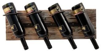 Twine Rustic Farmhouse: Metal & Wood Wine Rack