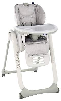Chicco Polly2Start Happy Highchair, Silver