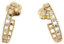 Fratelli Staurino Allegra 18k Rose Gold Small Diamond Hoop Earrings