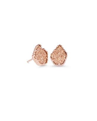 Kendra Scott Tessa Rose Gold Stud Earrings in Sand Drusy