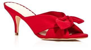 Loeffler Randall Women's Luisa Knotted Bow Kitten Heel Sandals