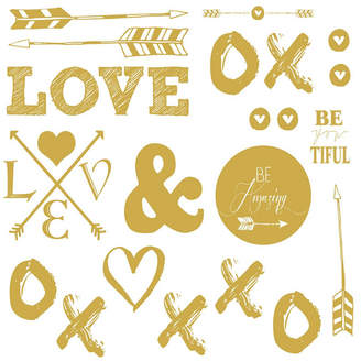 York Wall Coverings York Wallcoverings Love with Hearts and Arrows Peel and Stick Wall Decals