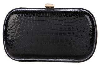 Bottega Veneta Crocodile Box Clutch